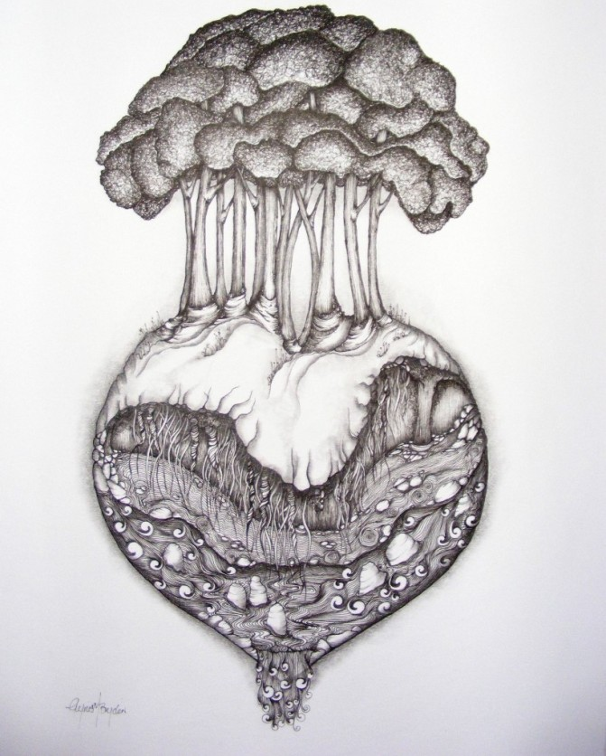 'Errods the Heart' Drawing